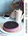 Blueberry Cheesecake. Purple...