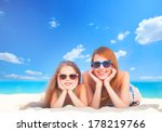 beautiful mother and little... | Shutterstock . vector #178219766