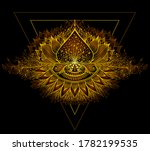 abstract decorative element in... | Shutterstock .eps vector #1782199535