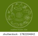 mediterranean diet icons vector ...   Shutterstock .eps vector #1782204842