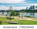 Ttukseom Hangang Park At Summer ...