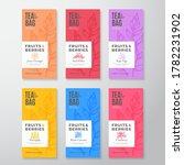 fruit and berries tea labels... | Shutterstock .eps vector #1782231902