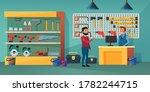people in tool store vector... | Shutterstock .eps vector #1782244715