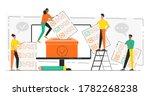 online voting concept. concept... | Shutterstock .eps vector #1782268238