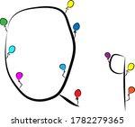 a festive font. bright colored...   Shutterstock .eps vector #1782279365