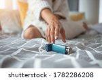 Asmathic Girl Catching Inhaler...