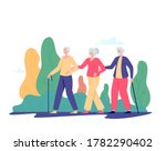 group of old people walking... | Shutterstock .eps vector #1782290402