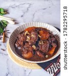 Semur Daging Betawi. The sweet and savory taste of the stew is suitable for the rhombus companion that is eaten on Ied Fitri or Adha. The main ingredient used is beef, sweet soy sauce and other spicy