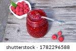homemade raspberry jam with... | Shutterstock . vector #1782296588