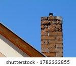 Isolated Clay Brick Chimney...