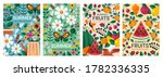 four different colorful summer... | Shutterstock .eps vector #1782336335
