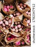 Huge Pile Of Fresh Pink Peony...