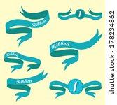 set of retro blue ribbons and... | Shutterstock .eps vector #178234862