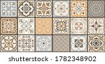 collection of 18 ceramic tiles... | Shutterstock .eps vector #1782348902