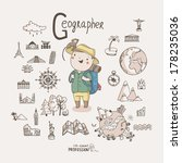 cute vector alphabet profession.... | Shutterstock .eps vector #178235036
