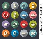 awards icons set | Shutterstock .eps vector #178235342