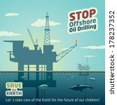 stop offshore oil drilling and... | Shutterstock .eps vector #178237352
