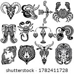 set of zodiac signs icons.... | Shutterstock .eps vector #1782411728