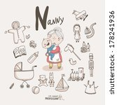 cute vector alphabet profession.... | Shutterstock .eps vector #178241936