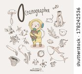 cute vector alphabet profession.... | Shutterstock .eps vector #178242536