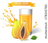 fresh juice background with... | Shutterstock .eps vector #178242782