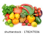 fruit and vegetable isolated on ... | Shutterstock . vector #178247036