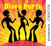 disco party. vector...