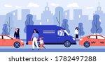 citizens walking on street... | Shutterstock .eps vector #1782497288