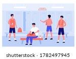 football or soccer team...   Shutterstock .eps vector #1782497945
