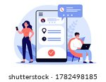 people using appointment... | Shutterstock . vector #1782498185