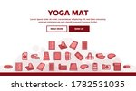 yoga mat accessory landing web...   Shutterstock .eps vector #1782531035