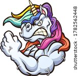strong angry unicorn mascot... | Shutterstock .eps vector #1782562448