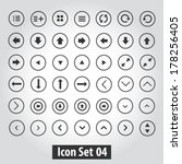 simple icon set for web design.  | Shutterstock .eps vector #178256405