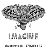 abstract,african,animal,art,aztec,black,carved,curve,decor,decorative,design,drawing,elephant,ethnic,graphic