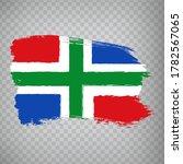 flag of  groningen brush...