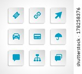 modern vector icons set bend... | Shutterstock .eps vector #178258376