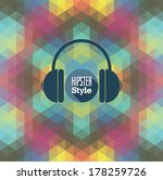 hipster background. vector... | Shutterstock .eps vector #178259726