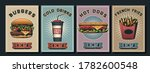 fast food poster set  retro... | Shutterstock .eps vector #1782600548