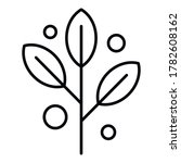 Herbal Branch Icon. Outline...