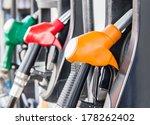 petrol pump filling  | Shutterstock . vector #178262402