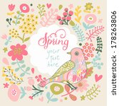 concept spring background in... | Shutterstock .eps vector #178263806