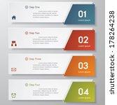 design clean number banners... | Shutterstock .eps vector #178264238