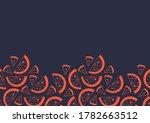 slices of orange seamless frame.... | Shutterstock .eps vector #1782663512