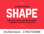 stretched style font design ... | Shutterstock .eps vector #1782703088