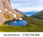 Small Alpine Lake At The Top O...