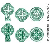celtic irish cross vector retro ...   Shutterstock .eps vector #1782707642