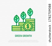 green economy growth thin line... | Shutterstock .eps vector #1782709088