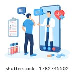 online medical consultation and ...   Shutterstock .eps vector #1782745502