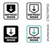 """deep pocket design"" product... 