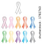 awareness ribbon with heart... | Shutterstock .eps vector #1782763